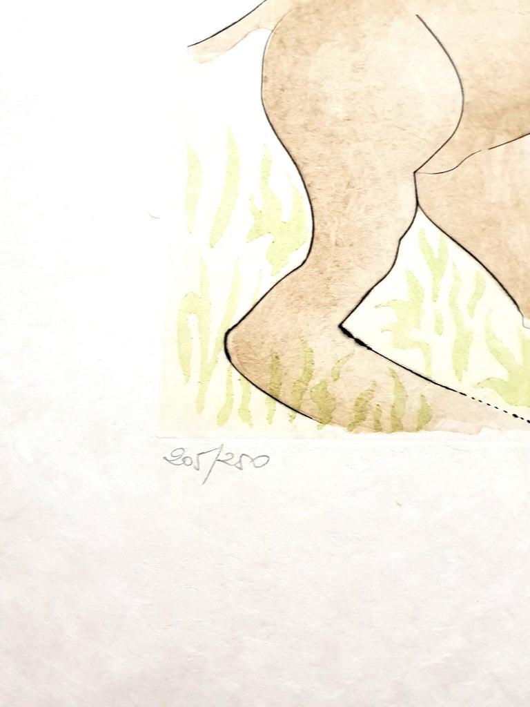 Salvador Dali - Le Cerf from Le Bestiaire de la Fontaine - Signed Engraving - Surrealist Print by Salvador Dalí
