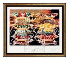 Salvador Dali Les Diners De Gala Color Lithograph Hand Signed Elephant Artwork