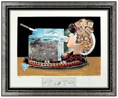 Salvador Dali Les Diners de Gala Original Hand Signed Lithograph Surreal Artwork