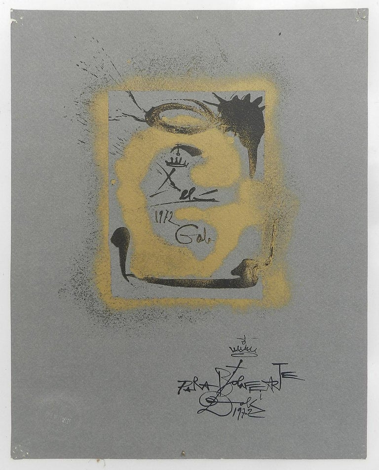Salvador Dali Lithograph Surreal G for Bolaffiarte Limited Edition 1972  For Sale 8