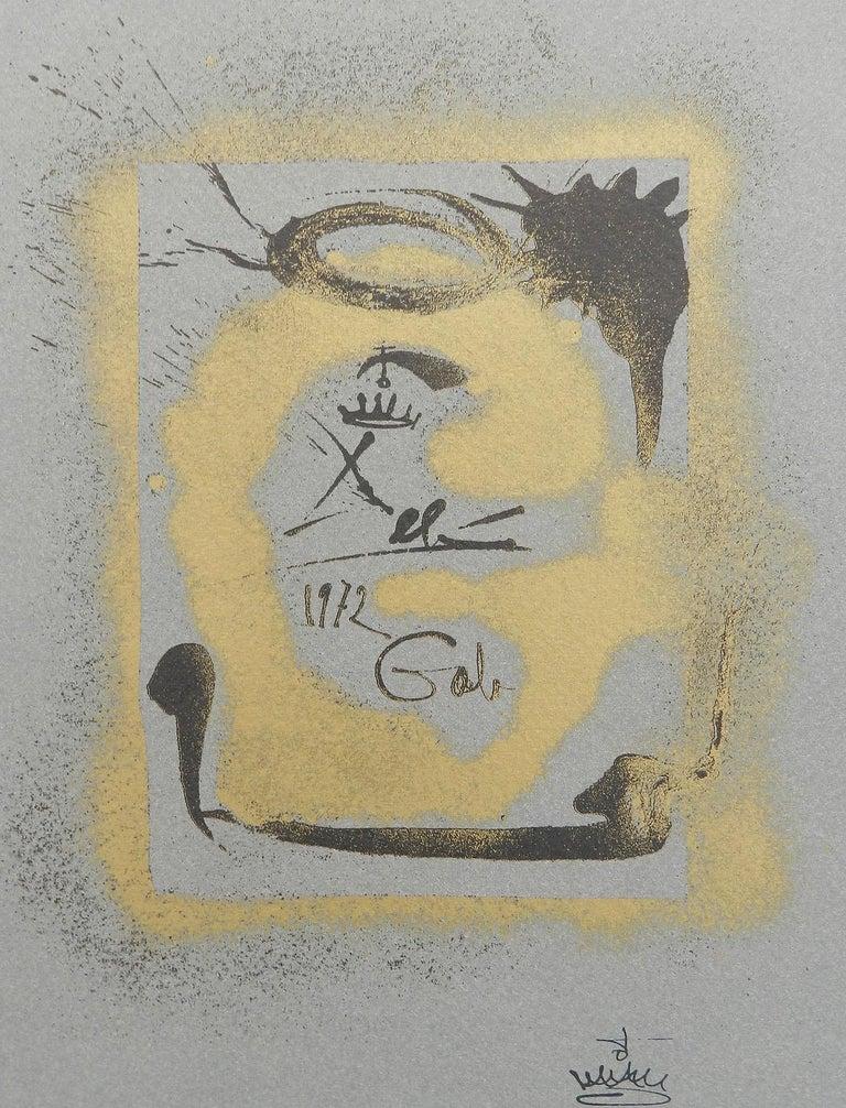 Salvador Dali Lithograph Surreal G for Bolaffiarte Limited Edition 1972  - Surrealist Print by Salvador Dalí