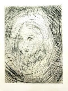 Salvador Dali - Marguerite - Original Etching