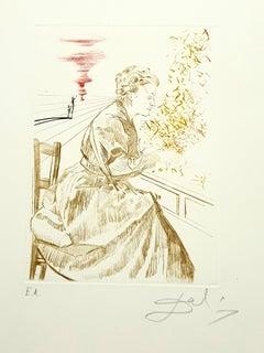 Salvador Dali - Marie Curie - Original Handsigned Engraving