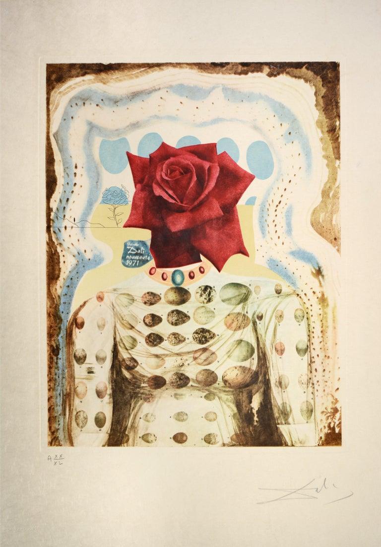 Salvador Dali, Surrealist Flower Girl, from Memories of Surrealism.  1