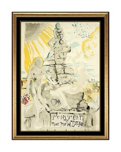 Salvador Dali Monument To The Ideal Doctor Color Lithograph Hand Signed Artwork