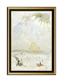 Salvador Dali Moses Original Color Drypoint Etching Surreal Hand Signed Artwork