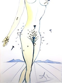 Salvador Dali - Nails on Nude - Original Etching