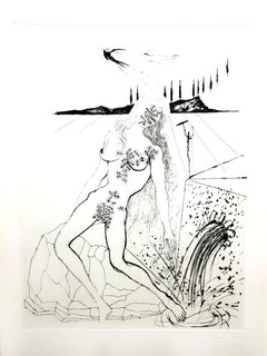 Salvador Dali - Nude at the Fountain - Original Etching