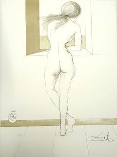 Salvador Dali - Nude at the Window - Original Handsigned Lithograph