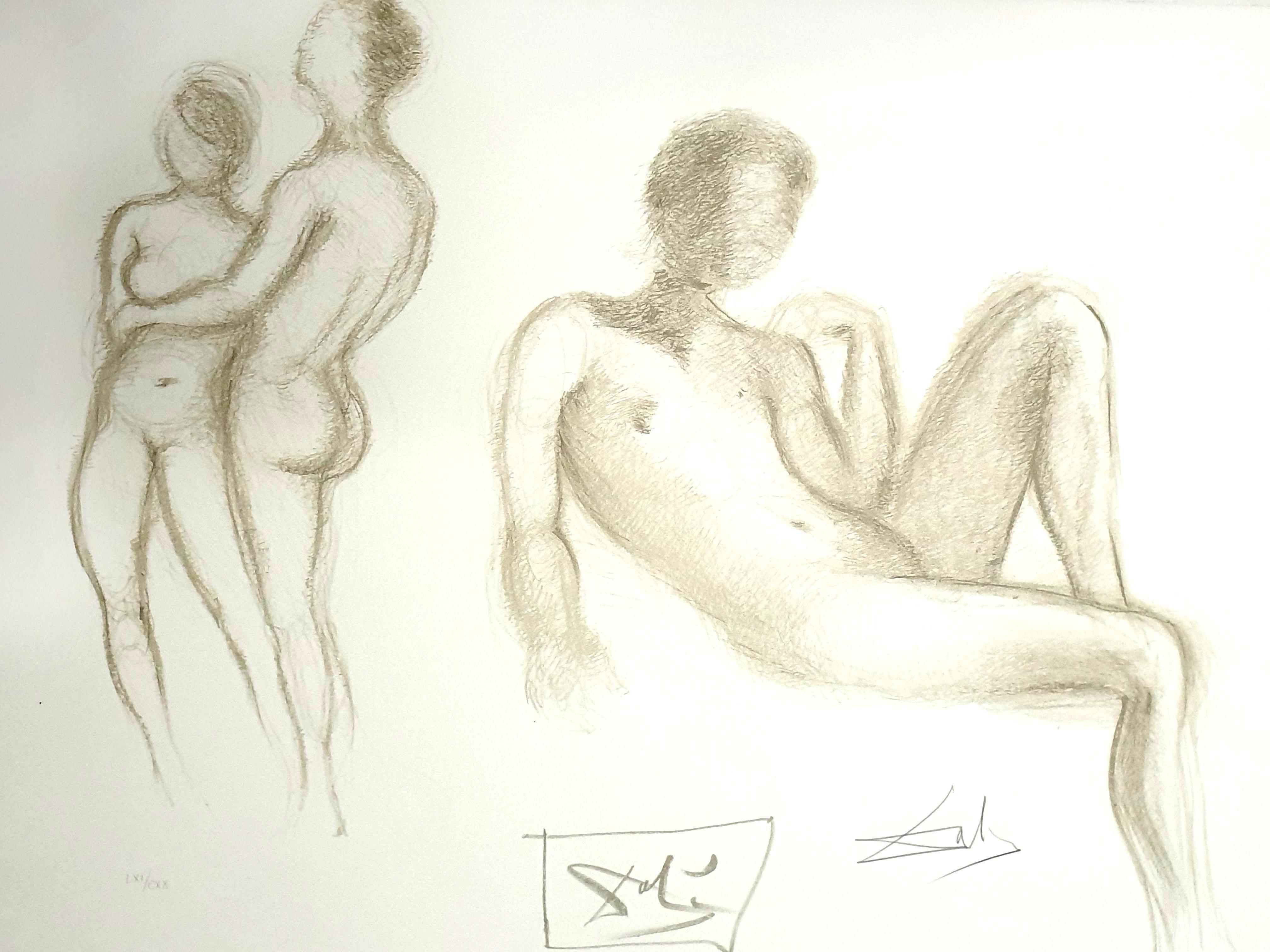 Salvador Dali - Nude Couples - Original Handsigned Lithograph