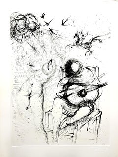Salvador Dali - Nude with Guitar - Original Etching