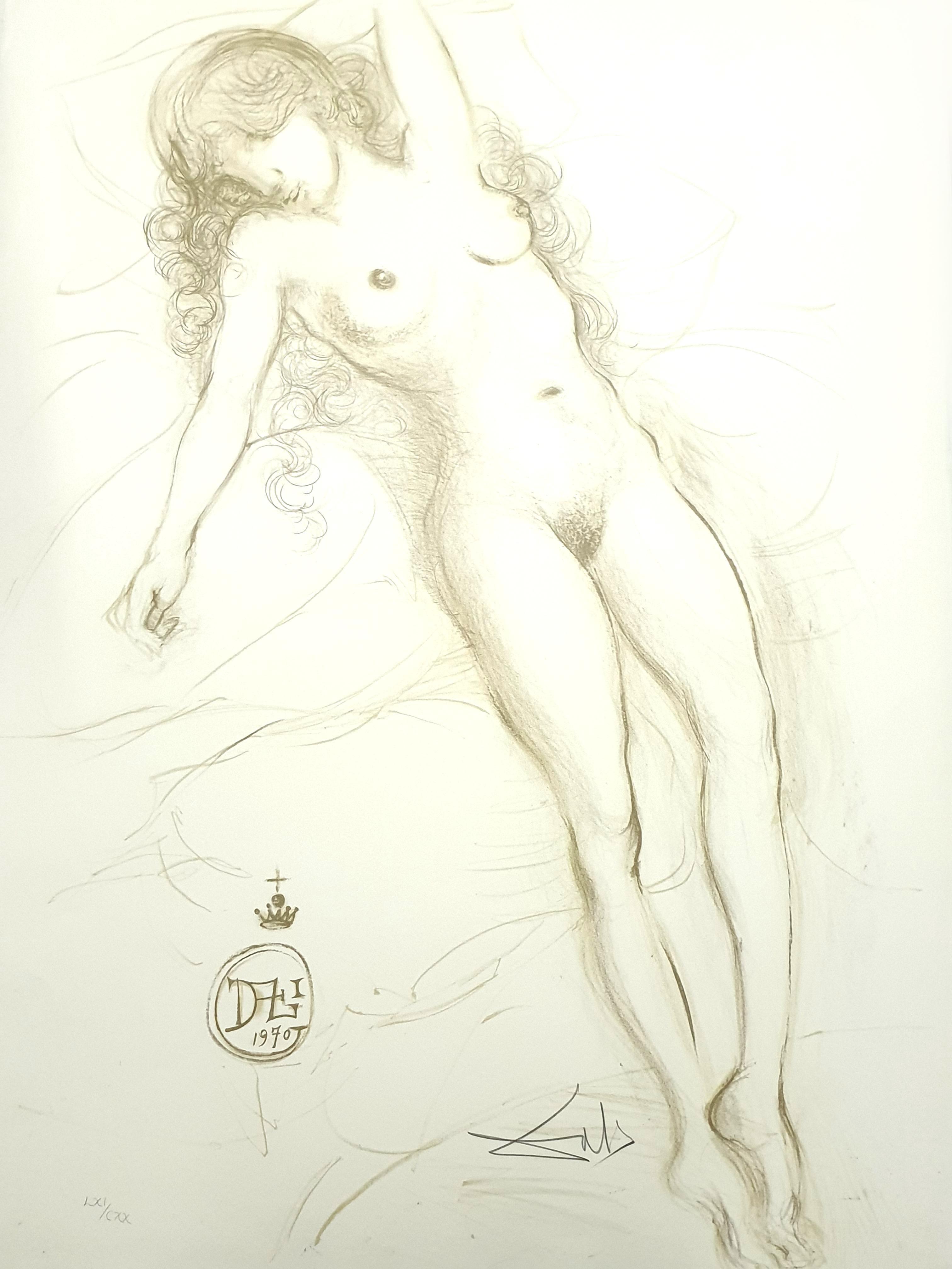 Salvador Dali - Nude with Raised Arms - Original Handsigned Lithograph
