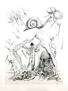 Salvador Dali - Nude with Snail - Original Etching