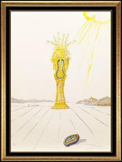 Salvador Dali Original Color Lithograph Barometer Woman Hand Signed Surreal Art