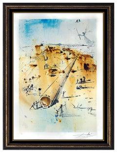 Salvador Dali Original Color Lithograph Hand Signed Aliyah Israel Authentic Art