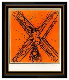 Salvador Dali Original Color Lithograph Hand Signed Andrew Apostle Framed Art