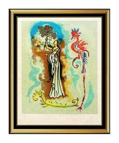 Salvador Dali Original Color Lithograph Hand Signed Rowena Ivanhoe Surreal Art