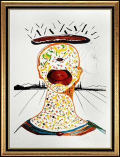 Salvador Dali Original Color Lithograph Surreal Cyclops Portrait Signed Art Rare