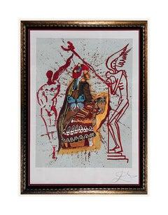 Salvador Dali Original Lithograph Authentic HAND SIGNED Surreal Art Tarot Card