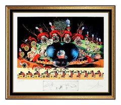 Salvador Dali Original Lithograph Hand Signed Les Diners De Gala Surreal Artwork