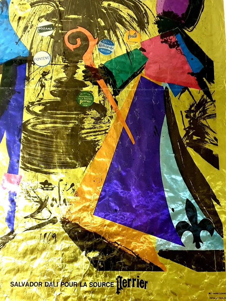 Salvador Dali -  Perrier - Vintage Lithographic Poster - Surrealist Print by Salvador Dalí