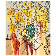 "Salvador Dali ""Portrait of Autumn"" - lithograph from Joy of Bacchus, 1980"