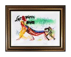 Salvador Dali Rare Original Color Lithograph Hand Signed Romans Surreal Artwork