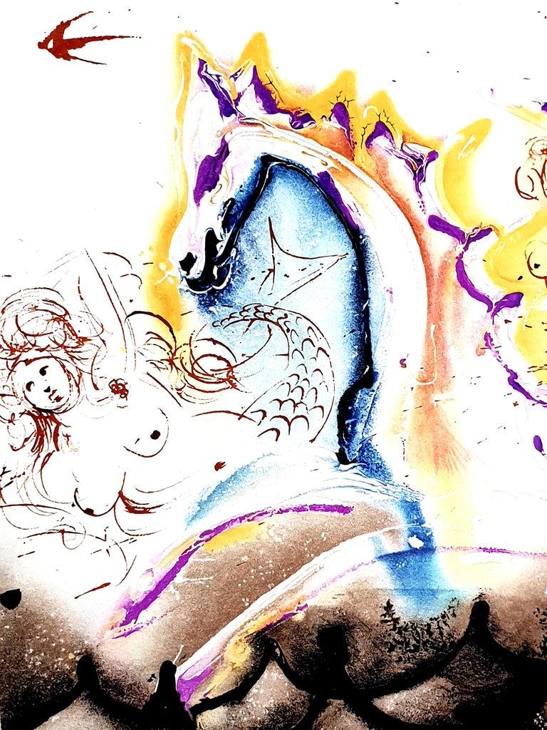 Salvador Dali - Sea Horse - Original Handsigned Lithograph For Sale 9