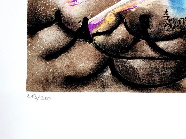 Salvador Dali - Sea Horse - Original Handsigned Lithograph For Sale 3
