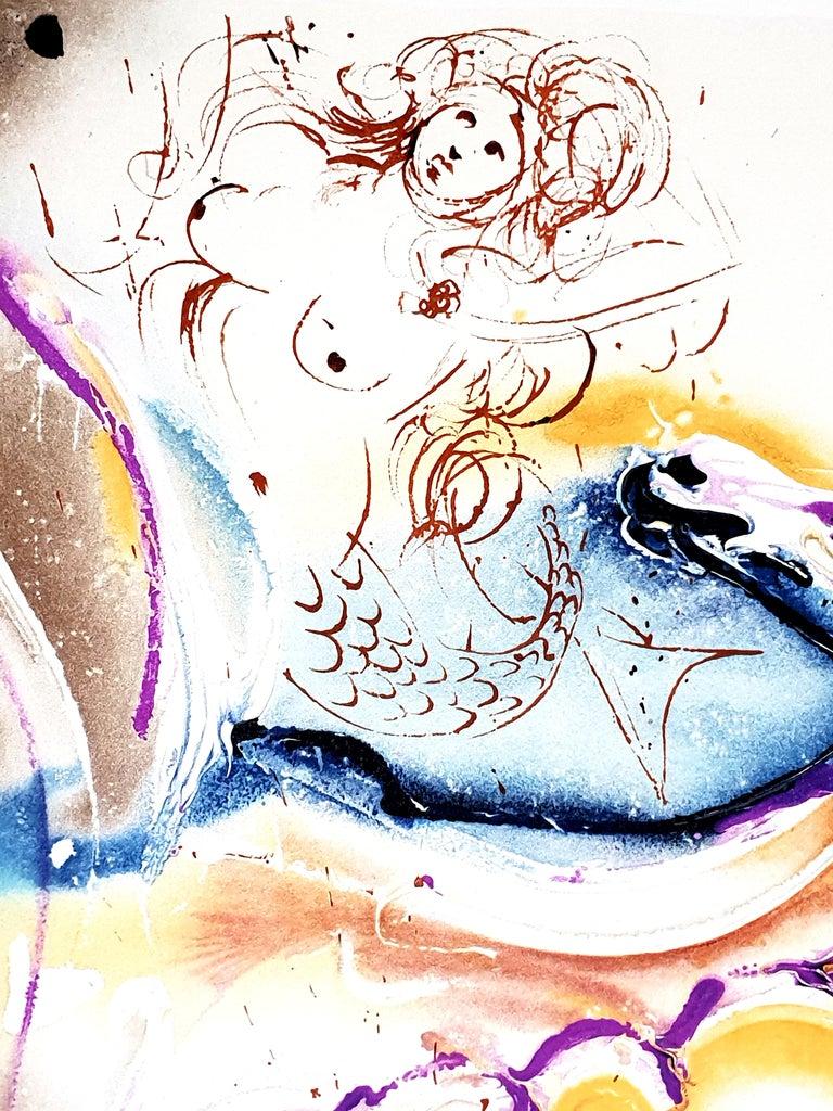 Salvador Dali - Sea Horse - Original Handsigned Lithograph For Sale 5