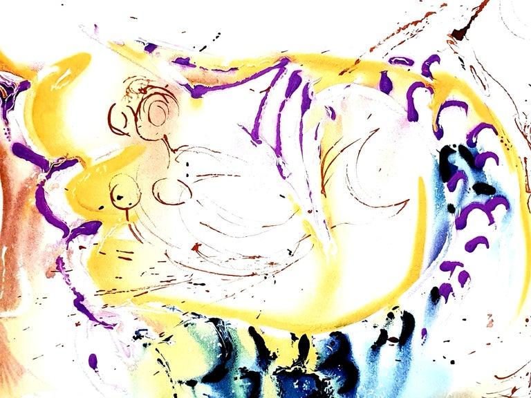 Salvador Dali - Sea Horse - Original Handsigned Lithograph For Sale 7