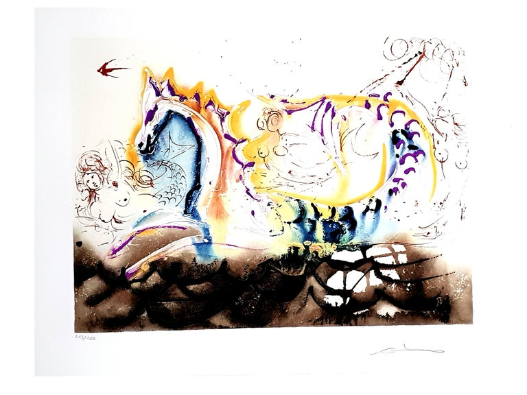 Salvador Dali - Sea Horse Original Lithograph Dimensions: 68 x 50 cm 1972 Edition: 213/250 Handsigned References : Field 72-6N   Salvador Dali  Salvador Dali was born as the son of a prestigious notary in the small town of Figueras in Northern