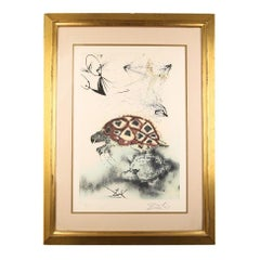 "Salvador Dali Signed Lithograph ""The Mock Turtle's Story"" on Arches Paper LE"