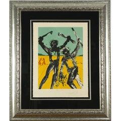 "Salvador Dali Signed Ltd Edition 74/100 ""Peace, At Last"" Litho Framed 44""x36"""
