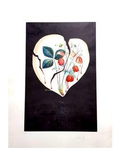Salvador Dali - Strawberry Heart - Original Hand-Signed Lithograph