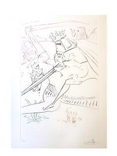 Salvador Dali - The Black Knight - Original Handsigned Etching
