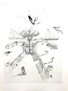 Salvador Dali - The Drawers - Original Etching