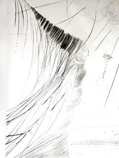 Salvador Dali - The Fairy - Original Etching on Silk