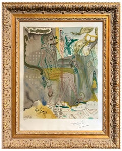 Salvador Dalí * The Marque de Sade the Twins Outwit Damis * Certified Lithograph