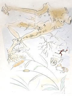 Salvador Dali - The Oak and the Reed - Signed Engraving