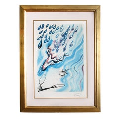 Salvador Dali The Pool of Tears Lithograph Numbered 23.5 x 33