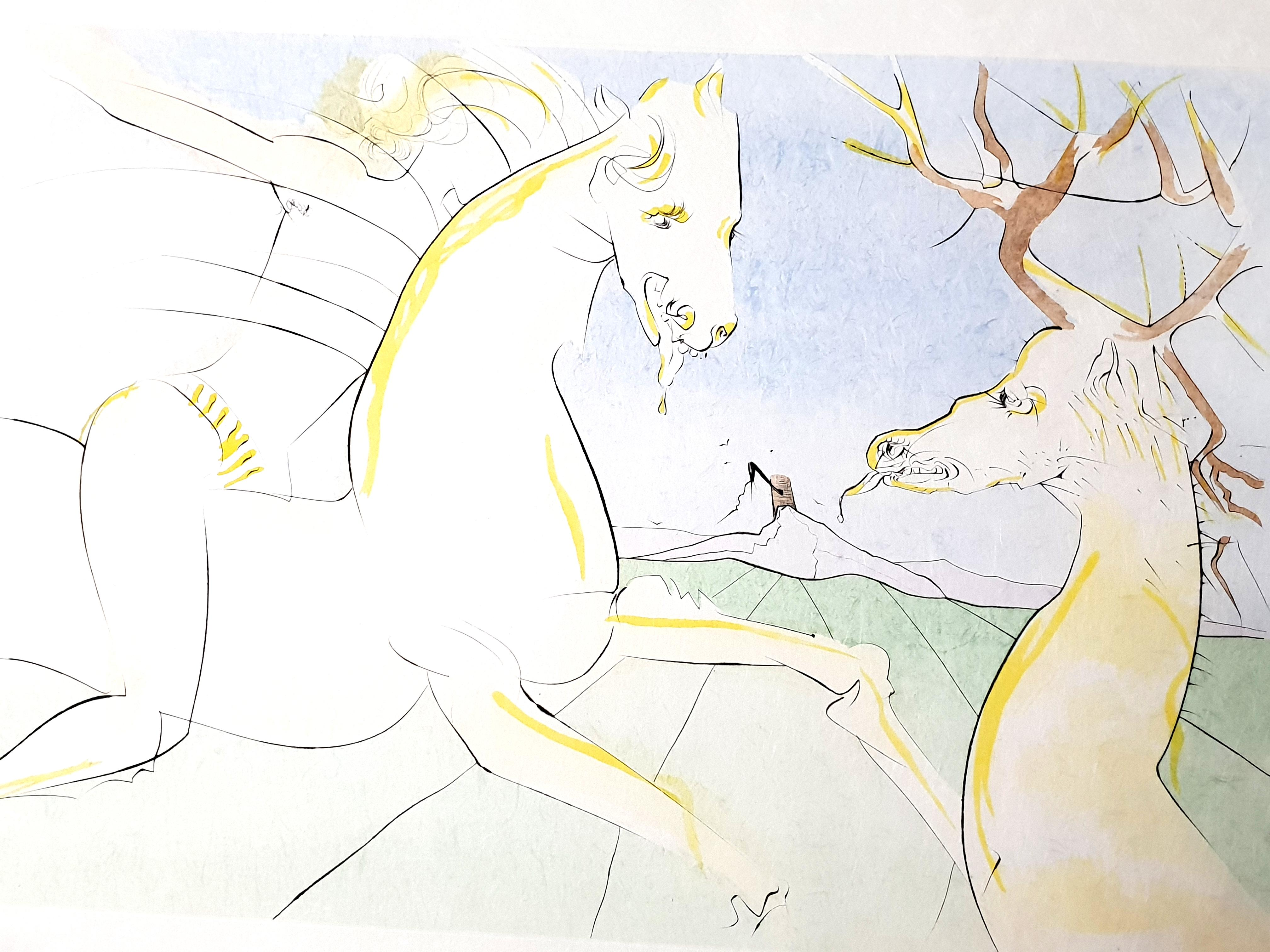 Salvador Dali - The Rider and the Deer - Handsigned Engraving