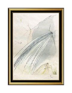 Salvador Dali The Rock Color Drypoint Etching Surreal Artwork Hand Signed Framed