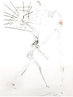 Salvador Dali - The Three Bad Barons - Original Etching