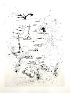 Salvador Dali - The Trenches - Original Etching