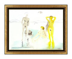 Salvador Dali Three Graces Cove D'or Highly Embossed Etching Hand Signed Artwork