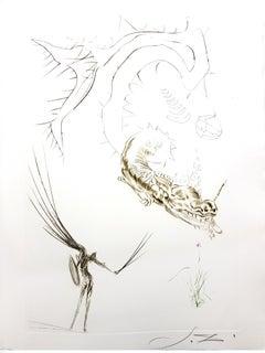 Salvador Dali - Tristan and the Dragon - Original Etching