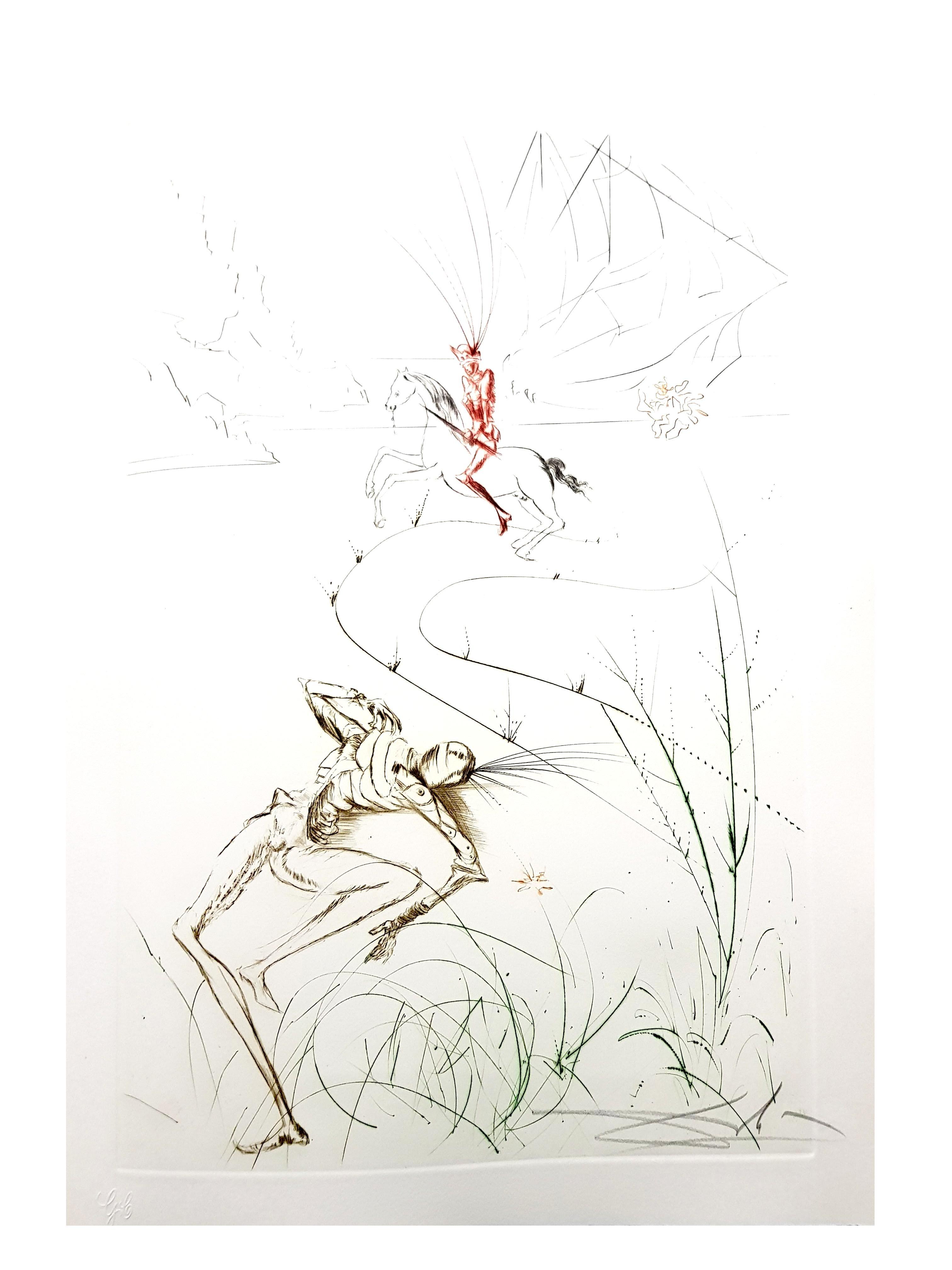 Salvador Dali - Tristan's Last Fight - Original Etching
