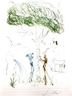 Salvador Dali - Under the Parasol Pine - Original Etching
