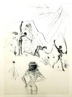 Salvador Dali - The Negresses - Original Stamp-Signed Etching